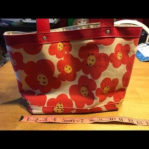 POPPIES TOTE!! JCREW EUC!!  CANVAS PRETTY COLORS!